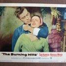 BW09 Burning Hills TAB HUNTER and NATALIE WOOD Lobby Card