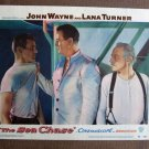 BW36 Sea Chase JOHN WAYNE and TAB HUNTER Lobby Card