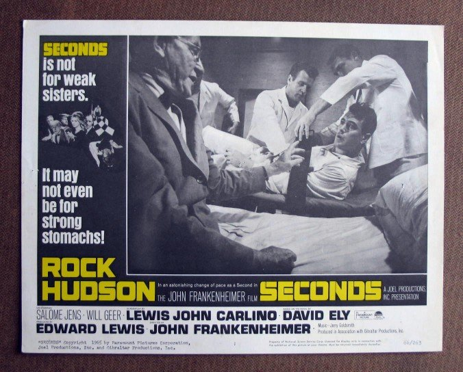 BW37 Seconds ROCK HUDSON Original 1966 Lobby Card