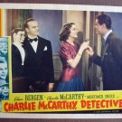 BX09 Charlie McCarthy Detective EDGAR BERGEN & CHARLIE McCARTHY Original 1939 Lobby Card