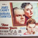 BX44 WILDER YEARS James Cagney and Barbara Stanwyck 1956 Title Lobby Card