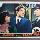 BY06 Big City LUISE RAINER and SPENCER TRACY 1937 Original Lobby Card