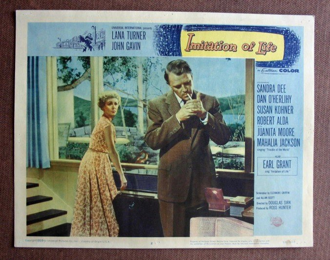 BY22 Imitation Of Life LANA TURNER and JOHN GAVIN Original 1959 Lobby Card