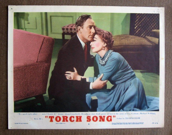 BY47 Torch Song JOAN CRAWFORD and MICHAEL WILDING  Original 1953 Lobby Card