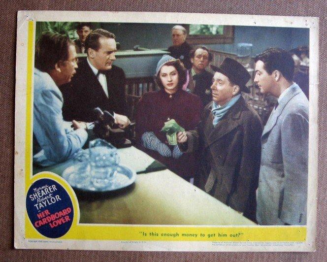 BZ14 Her Cardboard Lover NORMA SHEARER 1942 Lobby Card