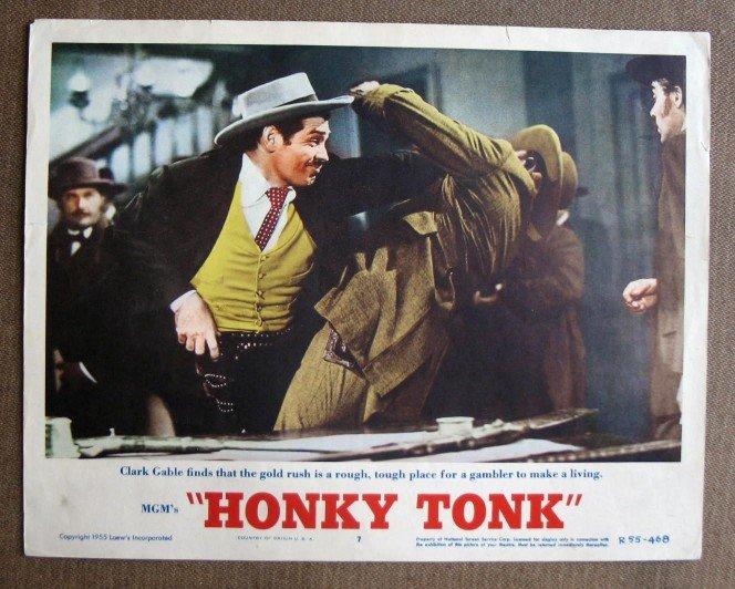 BZ16 Honky Tonk CLARK GABLE Original 1955 Lobby Card