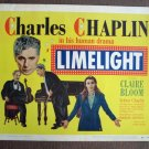 BZ22 Limelight CHARLES CHAPLIN and CLAIRE BLOOM  Original 1952 Title Card