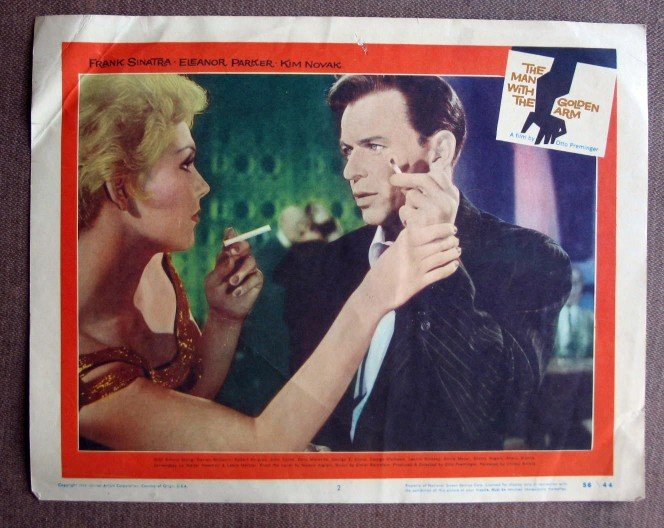 BZ26 Man With Golden Arm FRANK SINATRA and KIM NOVAK Original 1956 Lobby Card