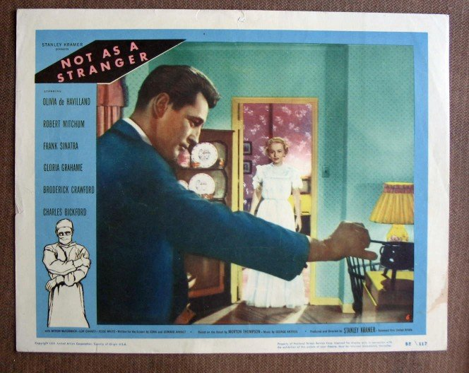 BZ33 Not As A Stranger ROBERT Mitchum 1955 Lobby Card