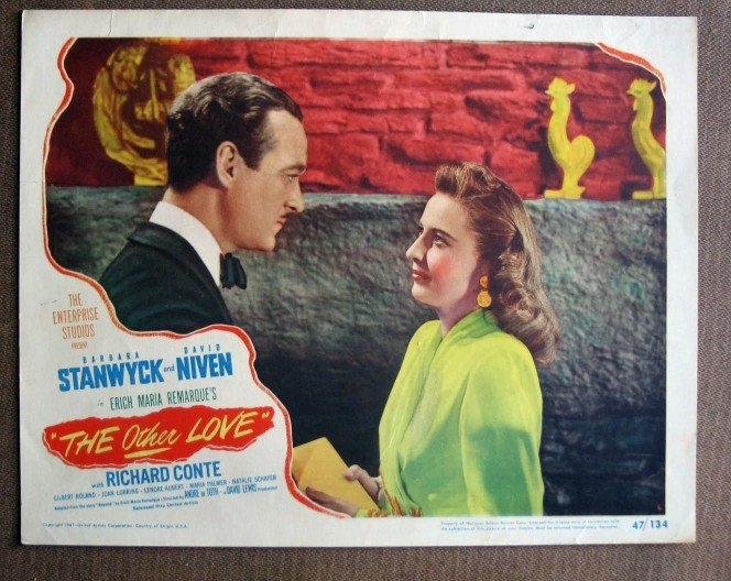 BZ35 Other Love BARBARA STANWYCK Portrait 1946 Original  Lobby Card