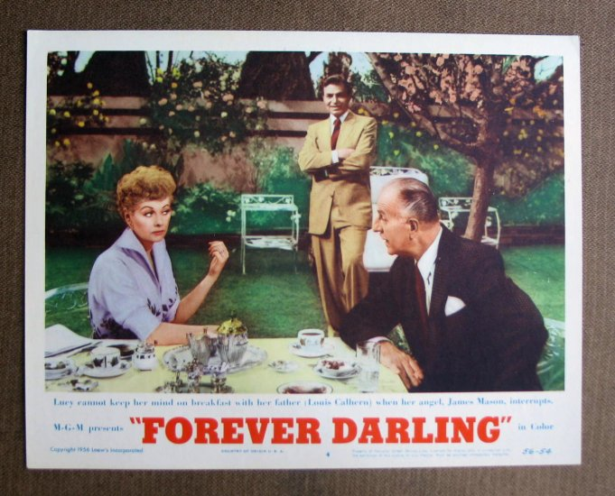 BN28 Forever Darling LUCILLE BALL and J MASON 56 Lobby Card