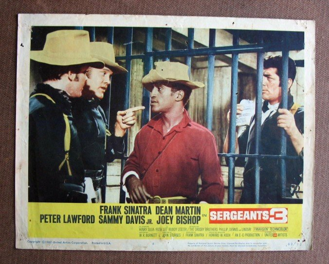 BW38 Sergeants 3 DEAN MARTIN and SAMMY DAVIS JR Lobby Card