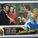 BD24 Johnny Angel GEOriginalE RAFT and CLAIRE TREVOR Lobby Card