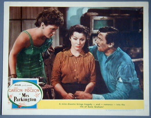 MRS PARKINGTON Greer Garson orig 1944 lobby card