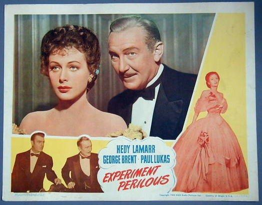 EXPERIMENT PERILOUS Hedy Lamarr orig 1944  LC