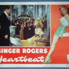 HEARTBEAT  Ginger Rogers orig 1946 lobby card