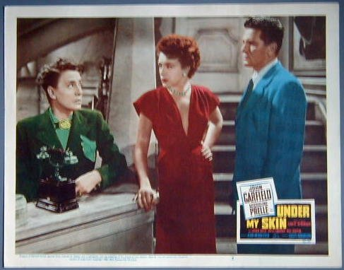 UNDER MY SKIN John Garfield orignal 1950 lobby card