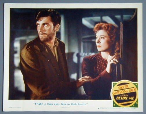 DESIRE ME Greer Garson orig 1947 lobby card
