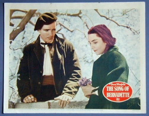 SONG OF BERNADETTE Jennifer Jones orig '43 LC