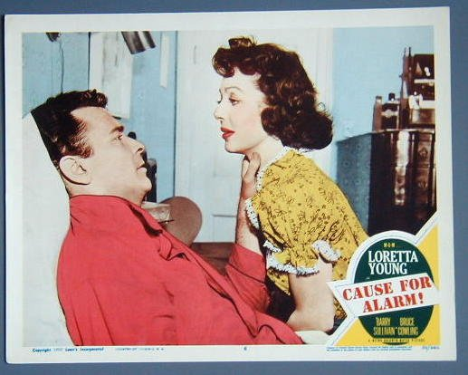 CAUSE FOR ALARM Loretta Young original 1950 MINT LC