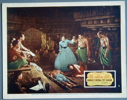 ANNA & THE KING OF SIAM Irene Dunne orig '46 lobby card