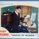 BADGE OF HONOR Buster Crabbe orig '34 lobby card