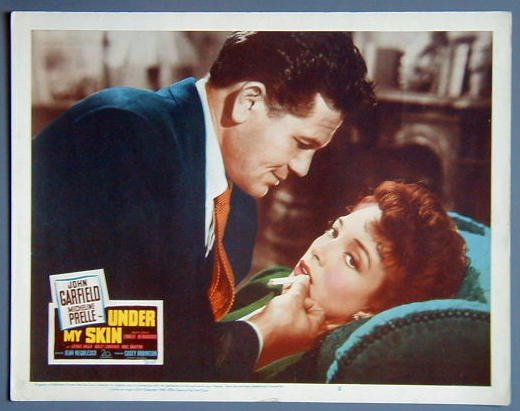 UNDER MY SKIN John Garfield original 1950 lobby card