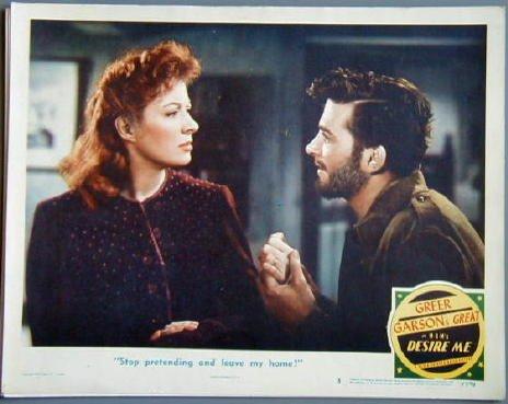 DESIRE ME Greer Garson orig '47 lobby card
