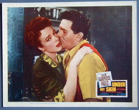 UNDER MY SKIN John Garfield orig '50 lobby card
