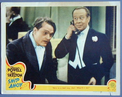 SHIP AHOY Red Skelton / Bert Lahr orig '42 lobby card