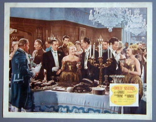 DOLLY SISTERS Betty Grable original 1945 lobby card