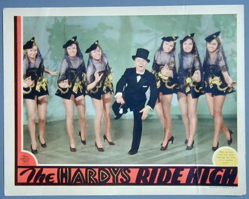 HARDYS RIDE HIGH Mickey Rooney w/Chorus Girls '38 LC