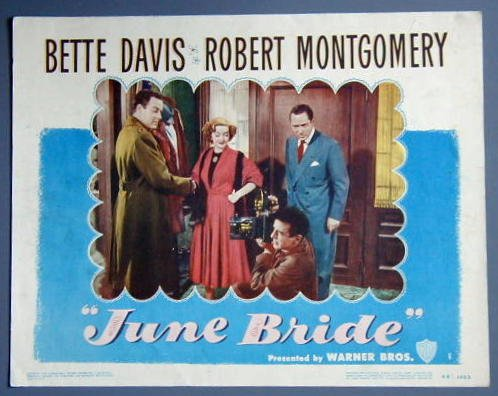 JUNE BRIDE Bette Davis orig 1948 lobby card