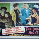 LONG NIGHT Henry Fonda/Vincent Price 1947   lobby card