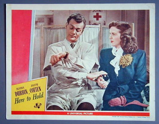 HERS TO HOLD Deanna Durbin orig '43 lobby card