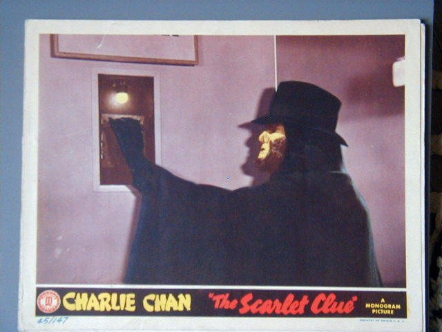 SCARLET CLUE Charlie Chan SIDNEY TOLER '45 LC