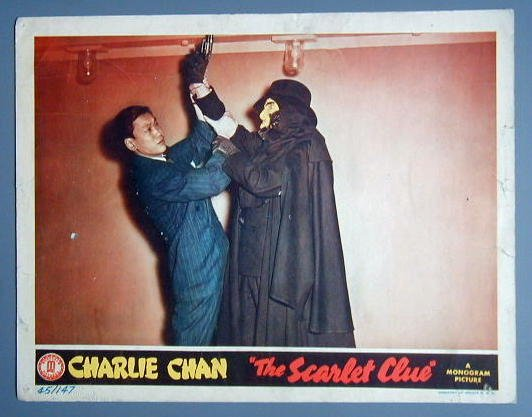 SCARLET CLUE Charlie Chan SIDNEY TOLER '45 lobby card