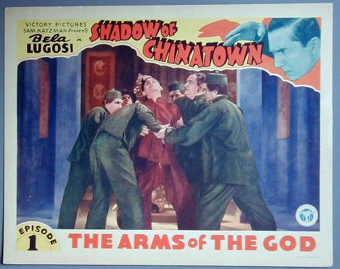 SHADOW OF CHINATOWN Bela Lugosi orig 1936 COLOR  LC