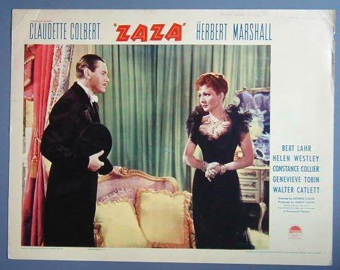 ZAZA Claudette Colbert/Herbert Marshall GREAT '38  LC