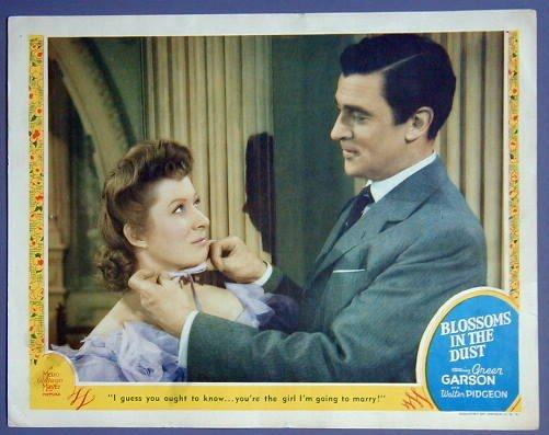 BLOSSOMS IN THE DUST Greer Garson portrait 1941  Lobby Card