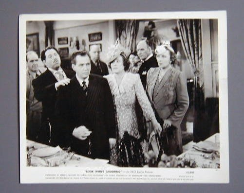 LOOK WHO'S LAUGHING Fibber McGee & Molly original '41 still