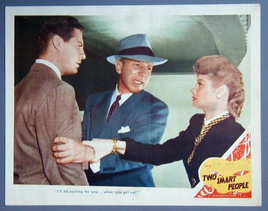 TWO SMART PEOPLE Lucille Ball original '46 lobby card