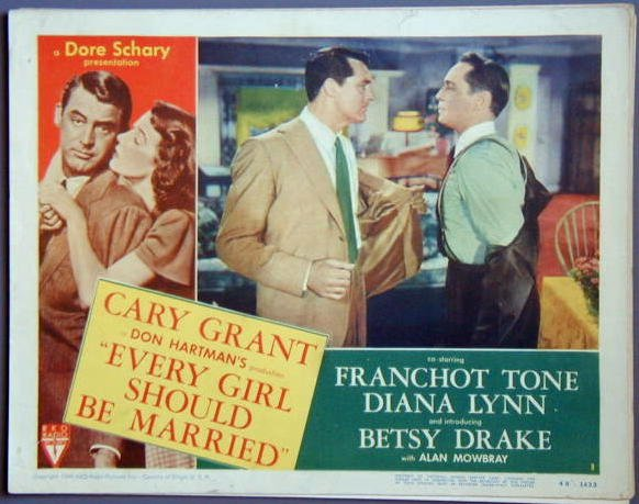 EVERY GIRL SHOULD BE MARRIED Cary Grant original '48 Lobby Card