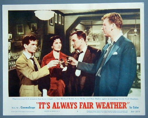 IT'S ALWAYS FAIR WEATHER Gene Kelly/Charisse/M. Kidd Lobby Card