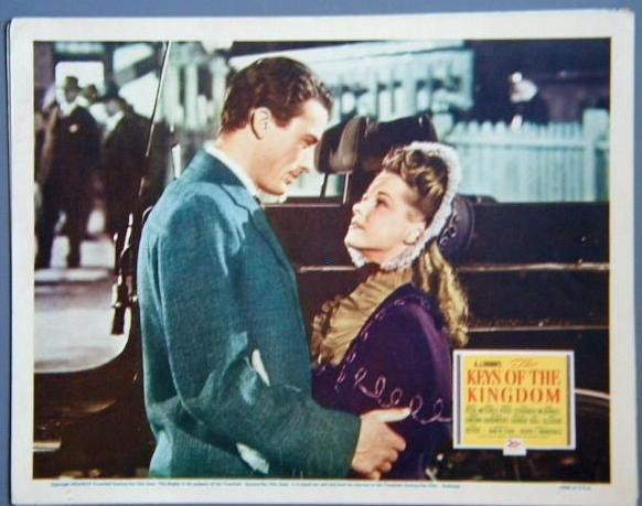 KEYS OF THE KINGDOM Gregory Peck original 1944  lobby card