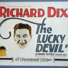 LUCKY DEVIL Richard Dix RARE 1925 title card