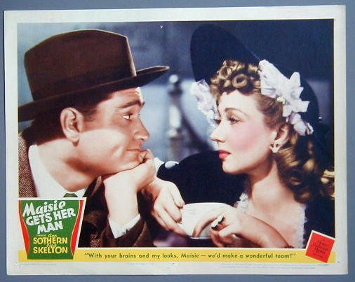 MAISIE GETS HER MAN Ann Sothern/Red Skelton close-up Lobby Card