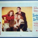 SUDDENLY IT'S SPRING Paulette Goddard original '46 Lobby Card