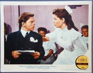 SUMMER HOLIDAY Mickey Rooney original '47 lobby card
