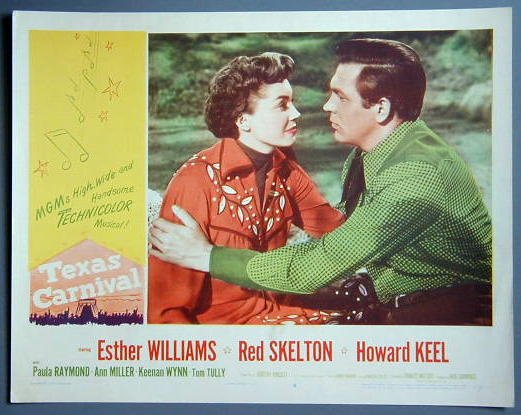 TEXAS CARNIVAL Esther Williams original 1951 lobby card